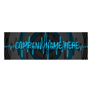 Sound Light Blue Dark business card skinny