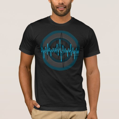 Sound Light Blue Dark Round t_shirt black