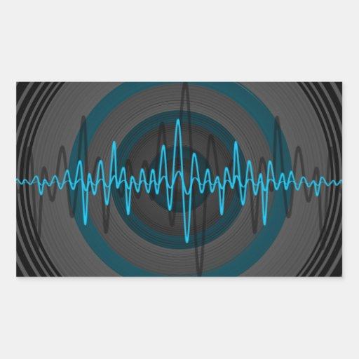 Sound Light Blue Dark sticker rectangle