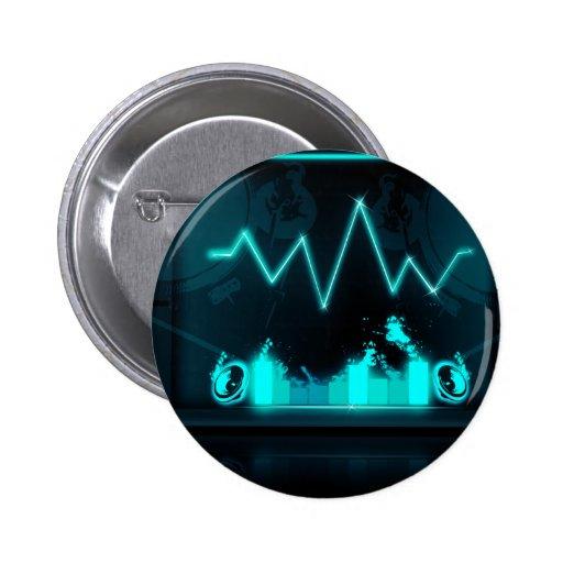 sound neon button