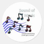 Sound of Music Round Stickers