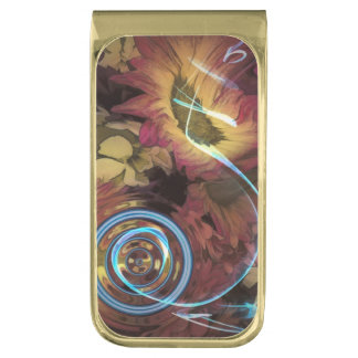 Sound of Waving Flowers Gold Finish Money Clip