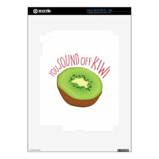 Sound Off Kiwi iPad 2 Decals