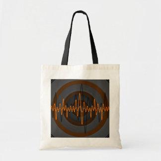 Sound Orange Dark budget tote bag