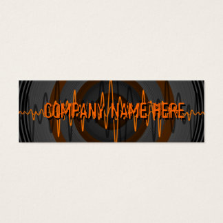 Sound Orange Dark business card template skinny