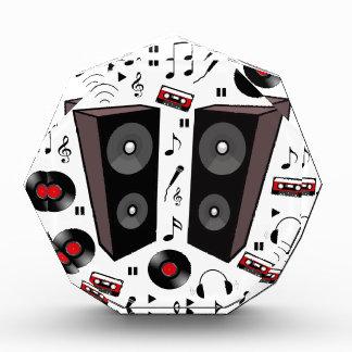 Sound pattern acrylic award