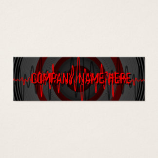 Sound Red Dark business card template skinny