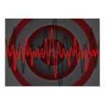 Sound Red Dark invitation