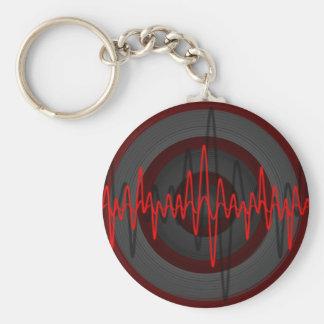 Sound Red Dark keychain