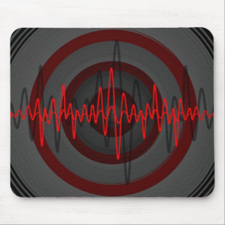Sound Red Dark mousepad