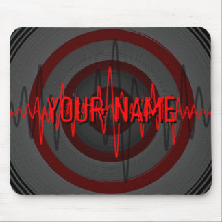 Sound Red Dark 'Name' mousepad