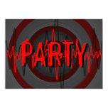Sound Red Dark 'PARTY' invitation