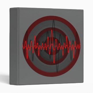 Sound Red Dark Round binder grey