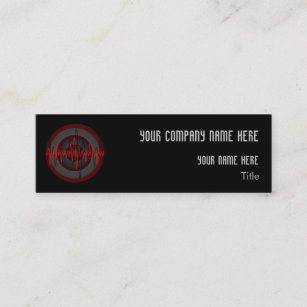 Sound round business cards zazzle sound red dark round business card template skinny accmission Gallery