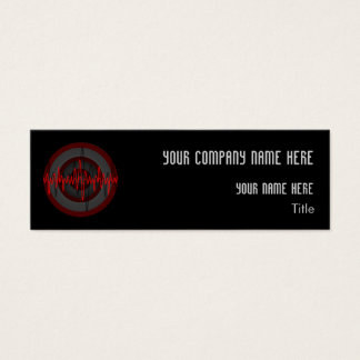 Sound Red Dark Round business card template skinny