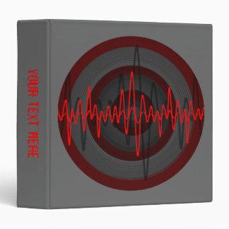 Sound Red Dark Round 'Your Text' binder grey