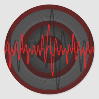 Sound Red Dark sticker round