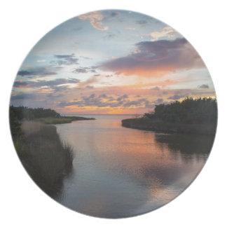 Sound Side Sunset Dinner Plate