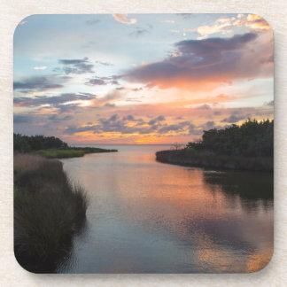 Sound Side Sunset Drink Coaster