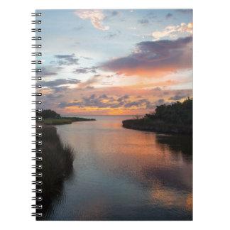 Sound Side Sunset Notebook