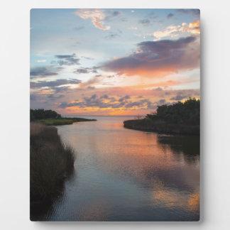 Sound Side Sunset Plaque