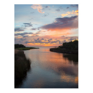 Sound Side Sunset Postcard