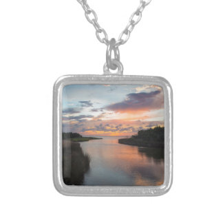 Sound Side Sunset Silver Plated Necklace