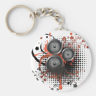 Sound Speaker with Floral Keychain