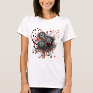 Sound Speaker with Floral T-Shirt