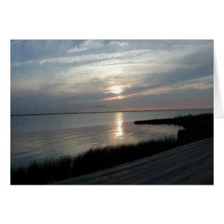 Sound Sunset Greeting Card