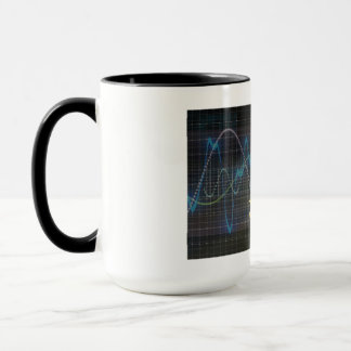 Sound System of the Future with Earphones Playing Mug