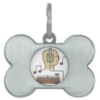 Sound System Pet Name Tag