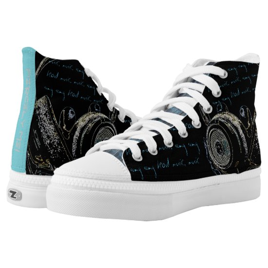 Sound the Ruckus Music Heads High-Top Sneakers