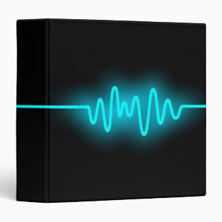 Sound Wave (1.5in) - Blue and Black 3 Ring Binder