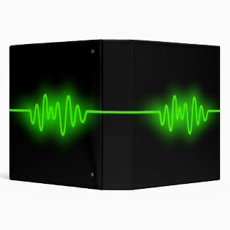 Sound Wave (1.5in) - Green and Black Binder