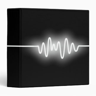 Sound Wave (1.5in) - White and Black 3 Ring Binder