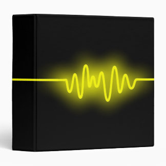 Sound Wave (1.5in) - Yellow and Black Binder