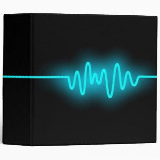Sound Wave (2in) - Blue and Black Binder