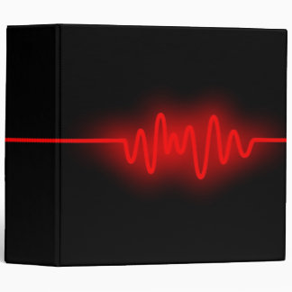 Sound Wave (2in) - Red and Black 3 Ring Binder