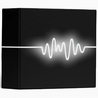 Sound Wave (2in) - White and Black Binder