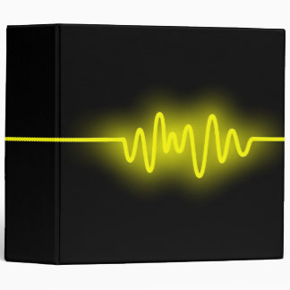 Sound Wave (2in) - Yellow and Black Binder