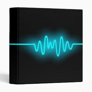 Sound Wave - Blue and Black 3 Ring Binder