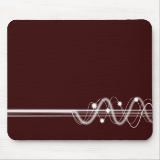 Sound Wave - Brown Mouse Pad
