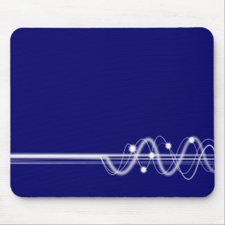 Sound Wave - Dark Blue Mouse Pad
