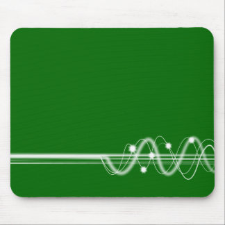 Sound Wave - Dark Grass Green Mouse Pad