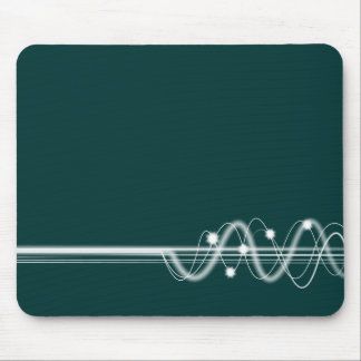 Sound Wave - Dark Green Mouse Pad