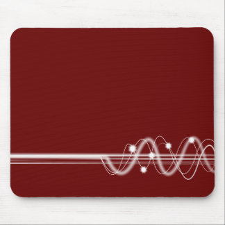 Sound Wave - Dark Maroon Mouse Pad