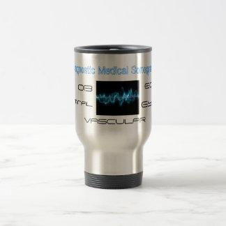 sound_wave, Diagnostic Medical Sonography, ECHO... 15 Oz Stainless Steel Travel Mug
