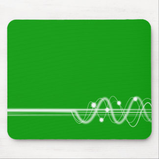 Sound Wave - Grass Green Mouse Pad