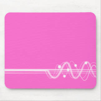 Sound Wave - Pink Mouse Pad